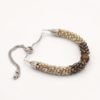 Shades of Brown Kumihimo BOLO Style Czech Glass Bracelet