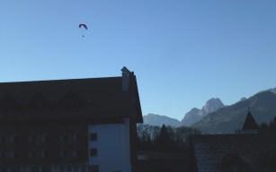 Ravascletto - Paolo imposta l'atterraggio