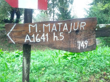 Inizio del sentiero 749