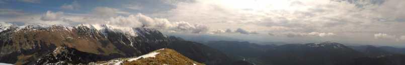 Dalla cima verso il Monte Nero