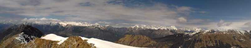 La cresta del Krasji verso ovest