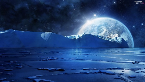 mountains-ice-moon-sea-star