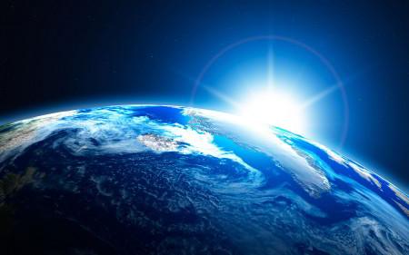Terra-dallo-spazio-con-alba-del-Sole-450x281