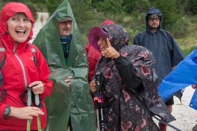 Cammino Terre Mutate Tappa 1 Fabriano Matelica arriva la pioggia