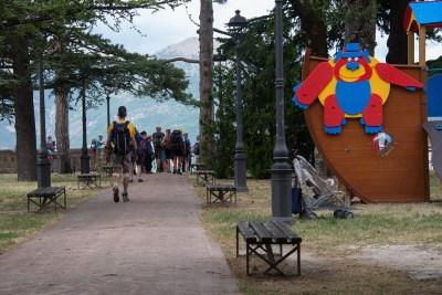 Cammino Terre Mutate Tappa 3 Camerino Fiastra il parco della rocca di camerino