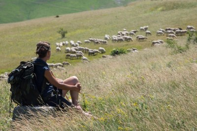 Cammino Terre Mutate Tappa 4 Fiastra Ussita la vista del pastore