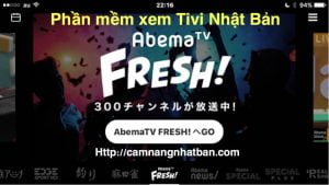 Xem trực tiếp hơn 300 kênh trên Abema TV Fresh