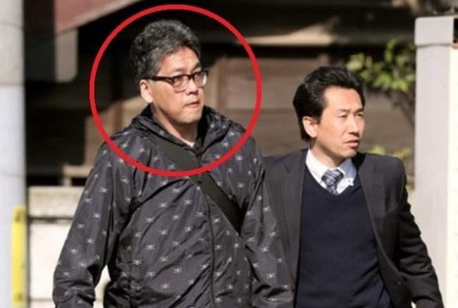 Nghi phạm Yasumasa Shibuya (khoanh tròn đỏ). Ảnh:Mainichi.