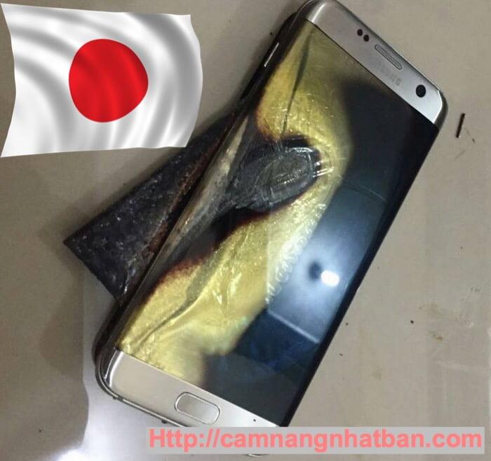 Galaxy Note 7 bốc khói ở sân bay quốc tế Kansai Nhật Bản