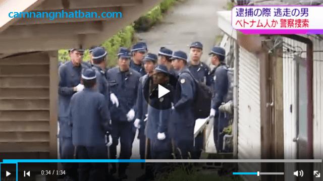 Hơn 300 cảnh sát Nhật đang truy bắt nam thanh niên người Việt