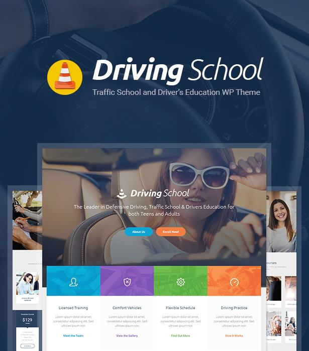 Driving School Car Automobile Wordpress Theme