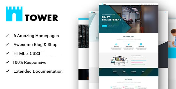Tower Corporate Business Multipurpose Wordpress Theme