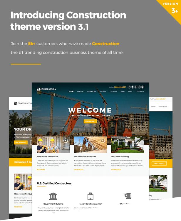 Construction Wordpress Theme By Wpcharming Themeforest