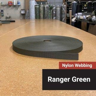 Nylon Webbing - Ranger Green