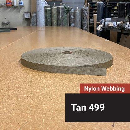 Nylon Webbing - Tan 499