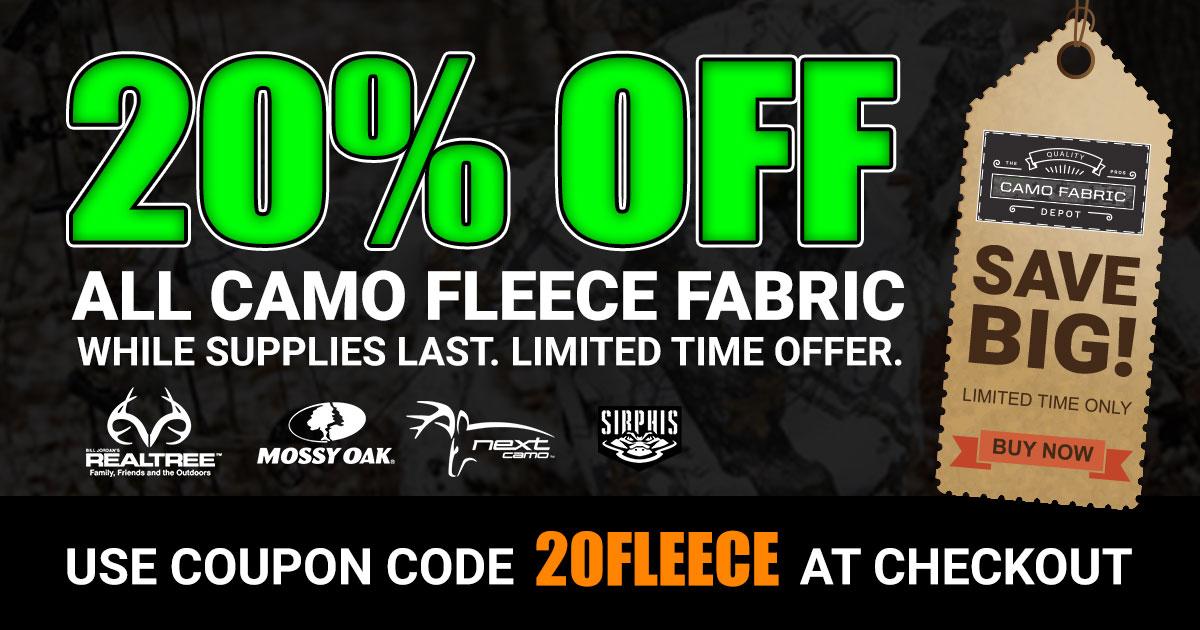 Camouflage Fleece Fabric Sale