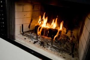 Building a fire, Camosse Masonry Supply, Massachusetts