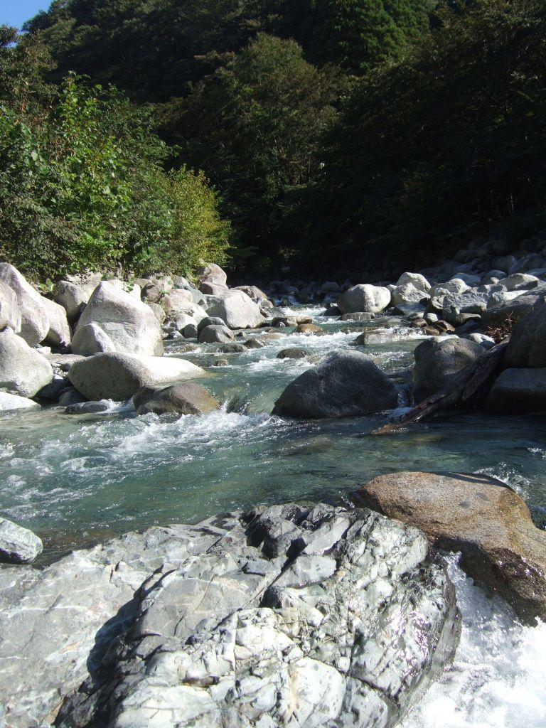 ウェルキャンプ付近の川