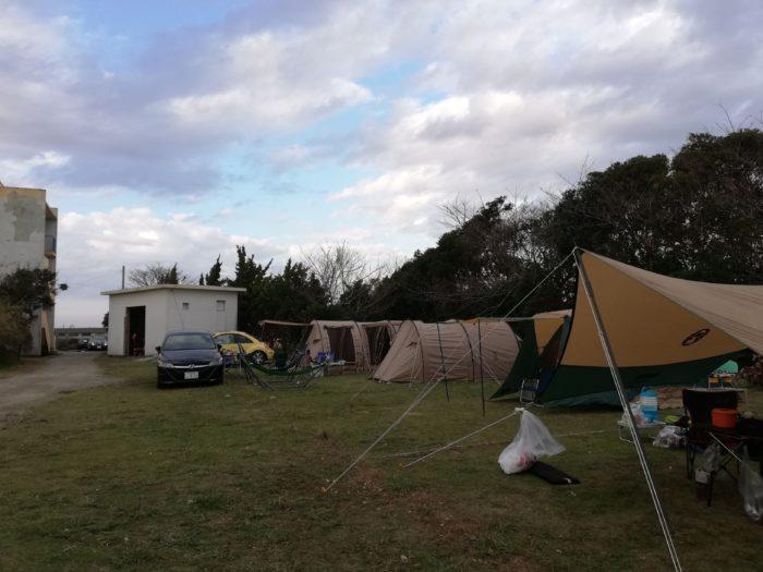 館山サザンビレッジBサイト 釣りキャンプ