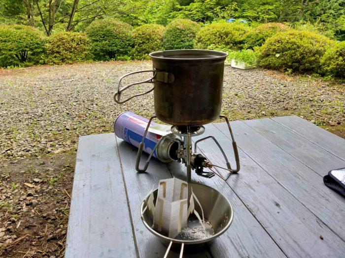 コーヒー キャンプ道具