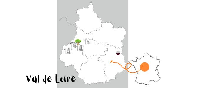 carte culture et nature en vallée de la loire