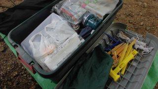 キャンプ道具を収納するのに便利なRVボックス