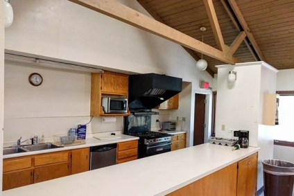 Upper Level Kitchen at Camp Lockeslea