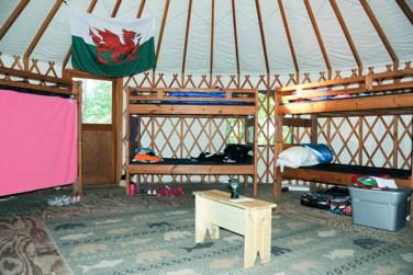 Yurt Interior at Lakamaga