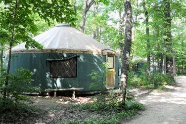 Yurt Exterior at Camp Lakamaga