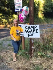 Camp Agape of Portland Camp Entrance