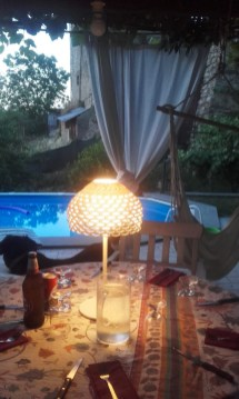 cena vista piscina