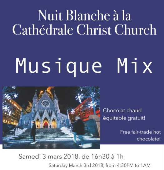 Chirst Church Cathedral Nuit Blanche 2018 Musique Mix
