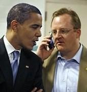 Barack Obama and Robert Gibbs