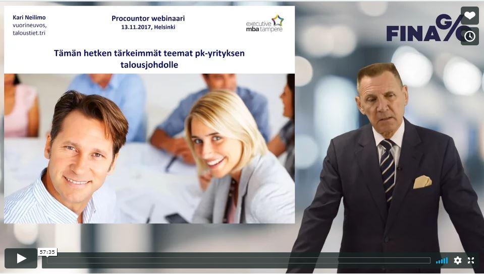 Lataa maksuton webinaaritallenne | Tämän hetken tärkeimmät teemat pk-yrityksen talousjohdolle