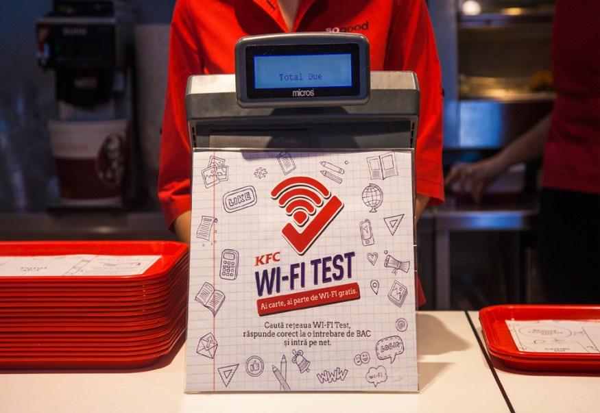 The WiFi Test - KFC in Romania is providing free wi-fi to high