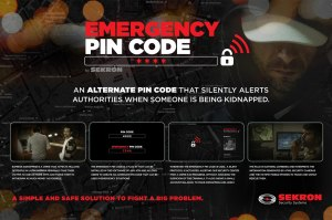 Emergency pin code by Sekron Security system