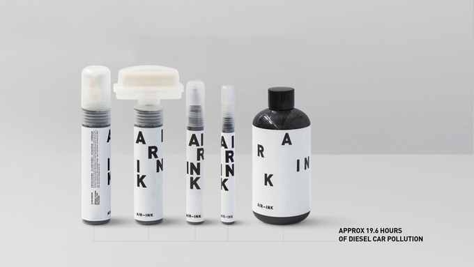 AIR-INK from air pollution