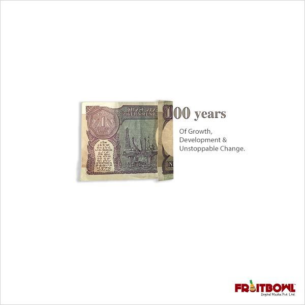 Fruitbowl Digital celebrate 100 Years of 1 Rupee currency