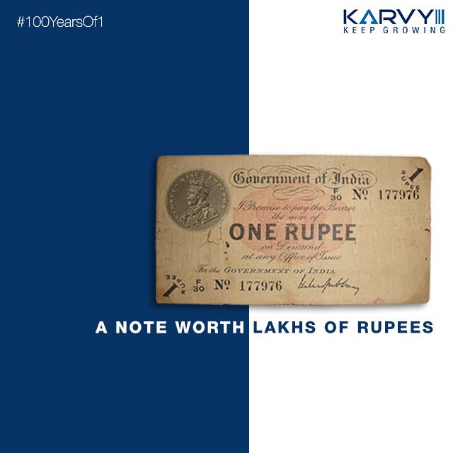 Karvy celebrate 100 Years of 1 Rupee currency