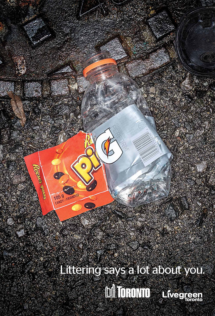 Live Green Toronto – Littering says a lot about you