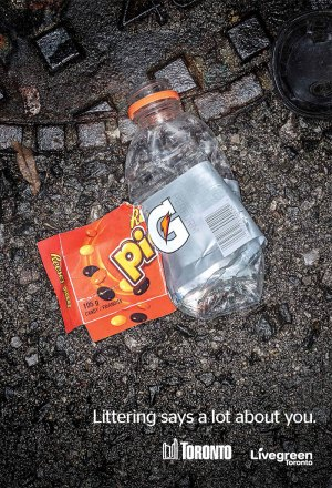 Live Green Toronto campaign for Anti-Littering