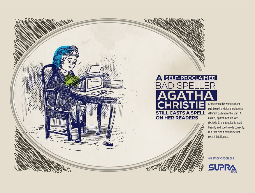 Supra Pens | Learn Beyond Grades | print campaign | Agatha Christie