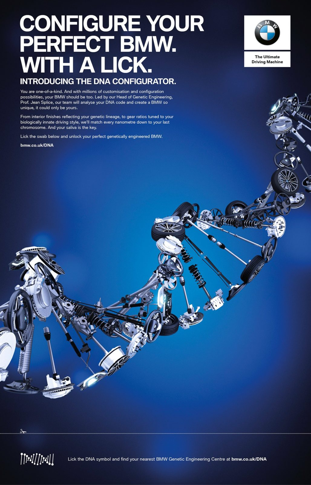 Bmw launches world first dna configurator which genetically bmw dna configurator april fools day ads malvernweather Gallery