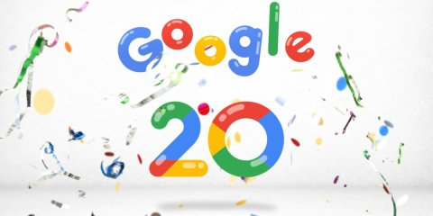 Google 20th Birthday #SearchIs20