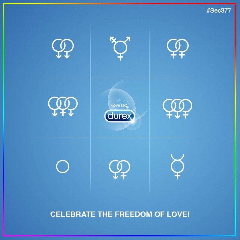 Durex celebrate the freedom of love- Section 377 | LGBTQ