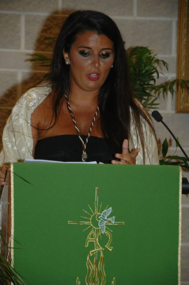 Ida Ledesma pregona la salida procesional de la Virgen del Carmen