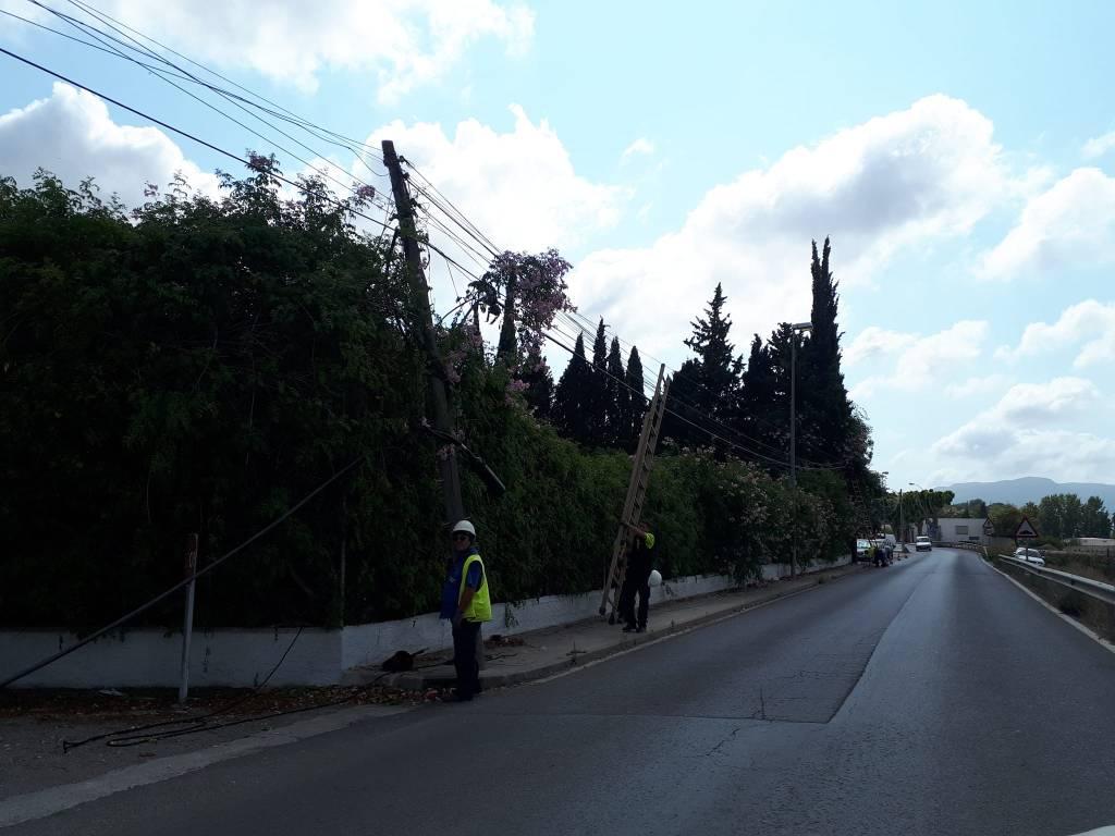 Un nuevo robo de cables deja sin teléfono fijo ni internet a varias barriadas de Campanillas
