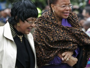 Graca and Winnie holding hands