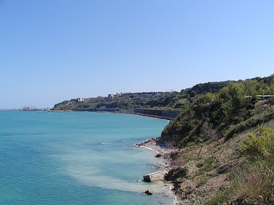 The seaside near Ortona