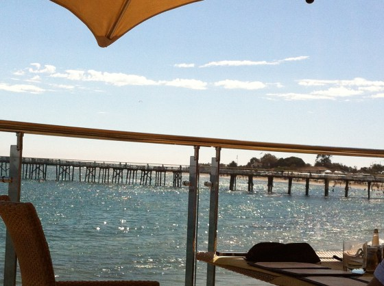 A lovely lunch at the Malibu Pier